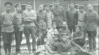 Заключенные во дворе Таганской тюрьмы. Первый слева - Александр Виленкин. Надпись «смертники» сделана его рукой